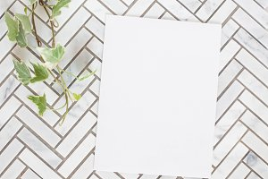 Flat note card styled stock 001