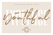Youthful Dry Brush Script DUO by  in Script Fonts