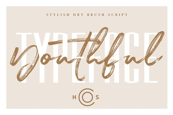 Script Fonts: Hustle Supply Co. - Youthful Dry Brush Script DUO