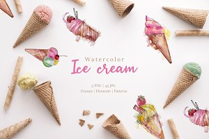 Ice - cream Watercolor png