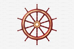 ⚓ vector volume ship wheel