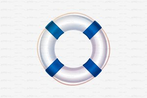 ⚓ vector volume lifebuoy blue