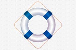⚓ vector volume lifebuoy blue