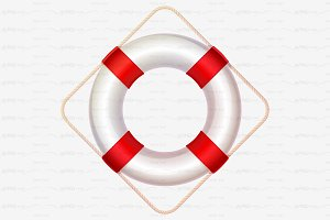 ⚓ vector volume lifebuoy red