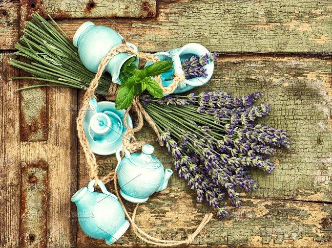 Lavender flowers. Shabby chic - Health
