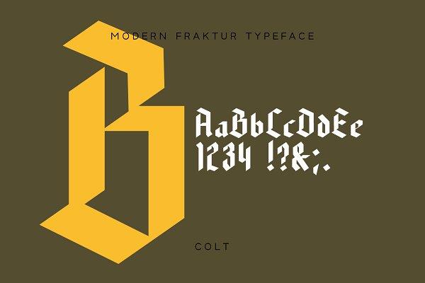 Best Beloid - Gothic Blackletter Font Vector