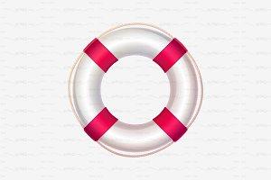 ⚓ vector volume lifebuoy pink