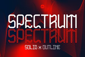 SALE! SPECTRUM Dual Weight Font