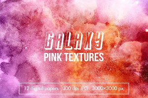 12 Galaxy watercolor textures