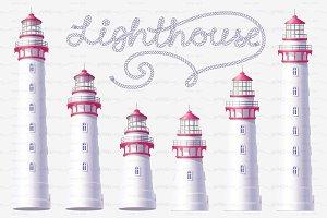 ⚓ vector volume Lighthouse set