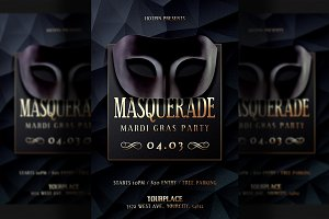 Masquerade Invitation Flyer