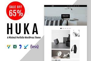 Huka - A Minimal Portfolio WordPess