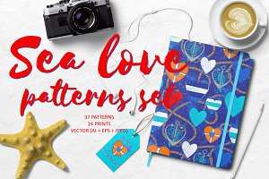 Sea love patterns set