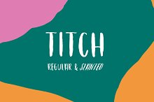 Titch Brush Family by  in Sans Serif Fonts