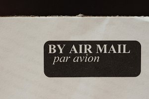 air mail letter envelope