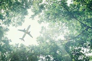 Eco-friendly air transport concept.
