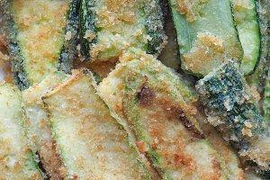 breaded courgettes zucchini vegetabl