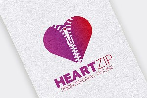 Heart Zipper Logo