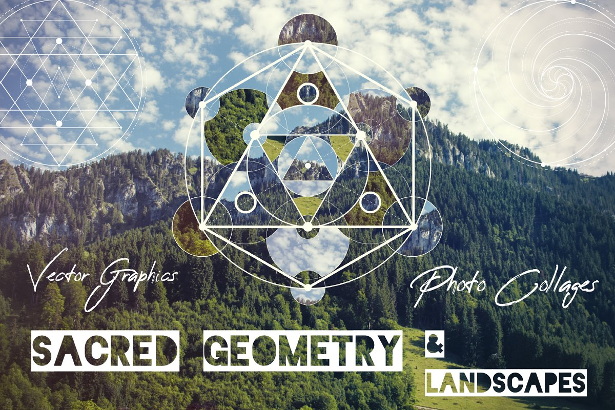 Sacred geometry: unity of nature ~ Graphics ~ Creative Market
