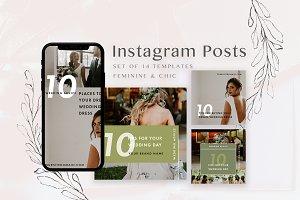 Feminine Instagram Templates Pack