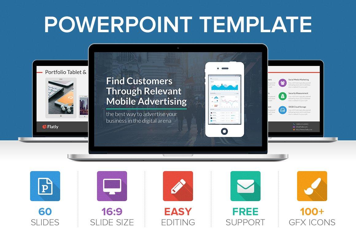 Flatly powerpoint template presentation templates creative market toneelgroepblik Images