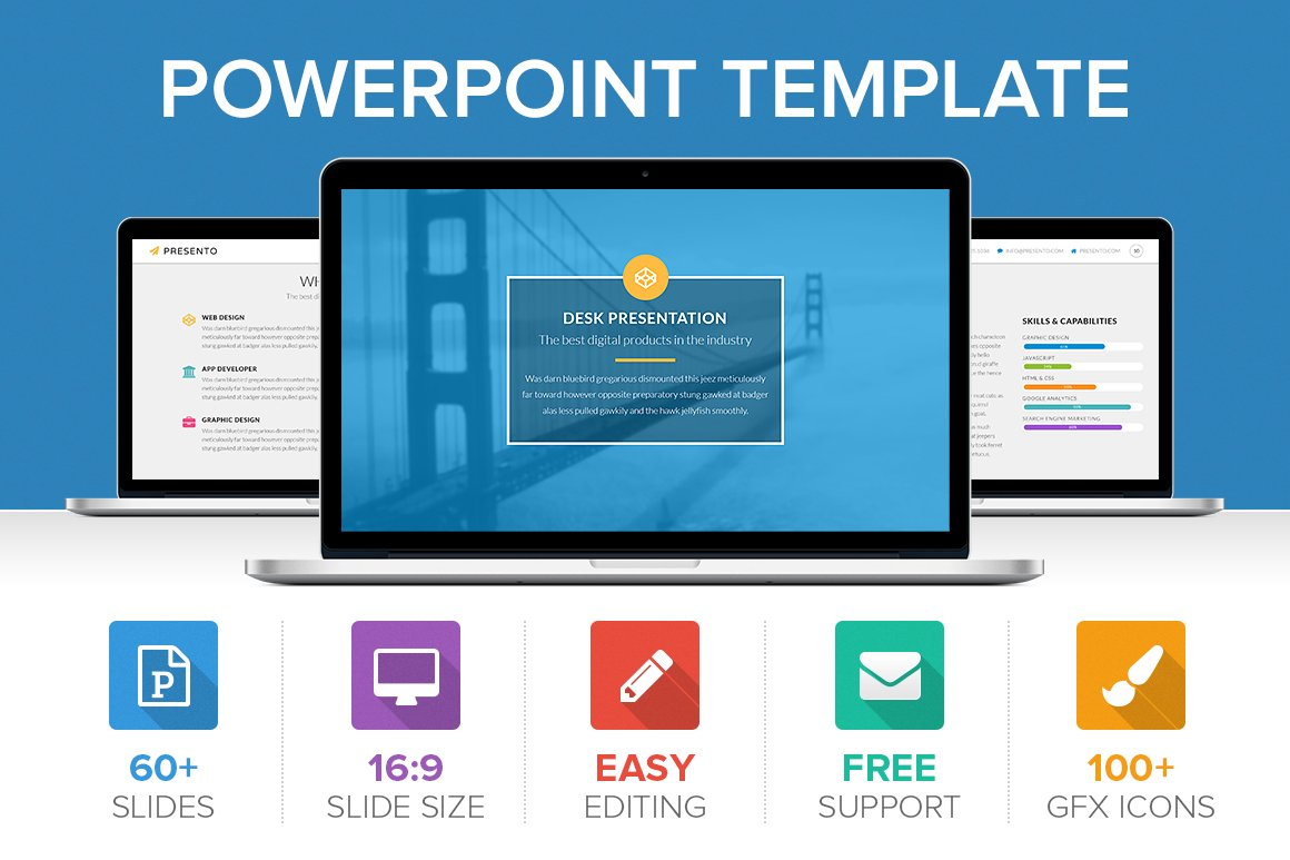 Presento PowerPoint Template ~ Presentation Templates ~ Creative Market