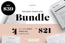 Most popular resumes bundle   SALE!
