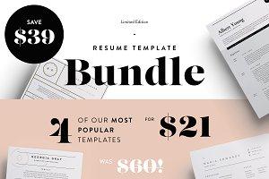 Most popular resumes bundle | SALE!