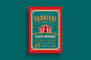 Retro Carnival Event Flyer