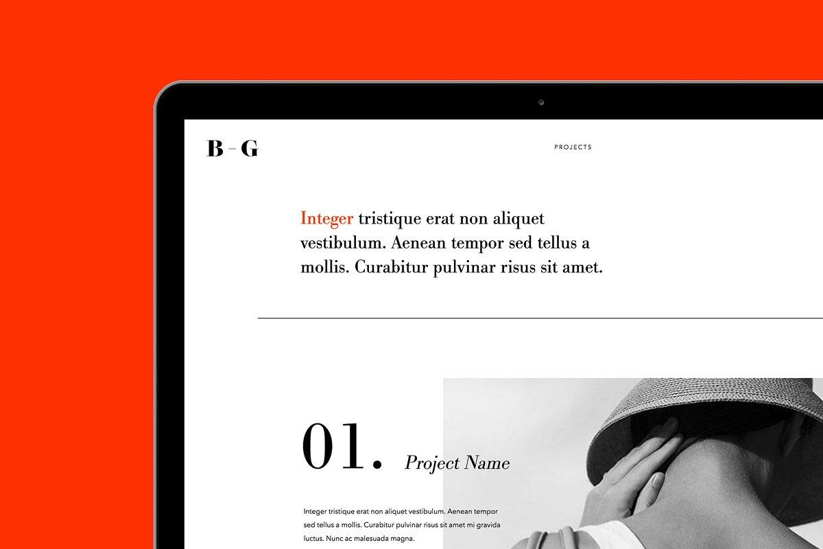 FOLIO | Adobe Muse Template