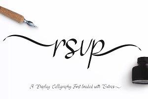 RSVP Display Calligraphy Font +