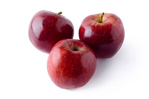 Top view of fresh red apples