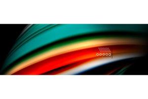 Color flow poster. Wave Liquid shape