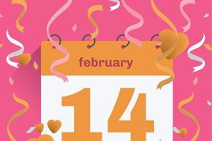 Vector illustration. Valentines day