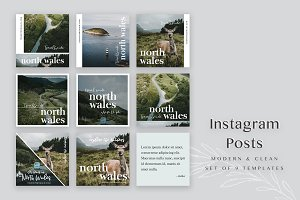 Travel Blog Instagram Templates Pack