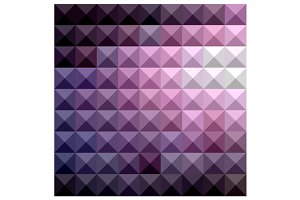 Russian Violet Abstract Low Polygon