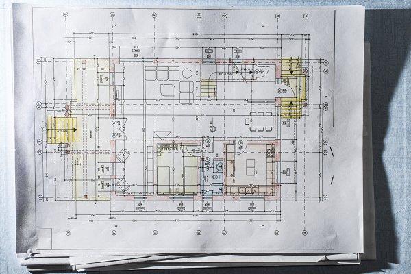 Home Design Blueprint Technical Arc