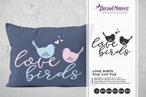 Love Birds SVG Vector