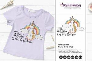 Unicorn SVG Cut File - Rainbow SVG
