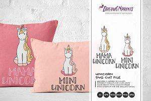 Unicorn SVG - Unicorn Family SVG