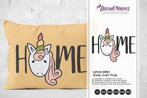 Unicorn SVG - Home SVG Cut File