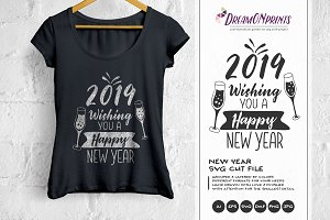 Happy New Years SVG Cut File