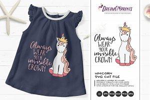 Unicorn SVG - Crown SVG Princess