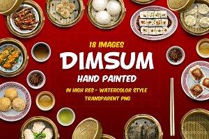 Dimsum chinese food hand drawn