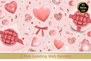 2 Greeting Web Banner Set