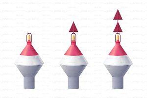 ♥ vector sea buoy icon set