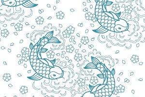 Koi carp chinese pattern