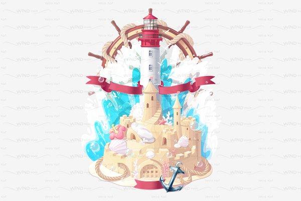 ♥ vector nautical sea summer concep…