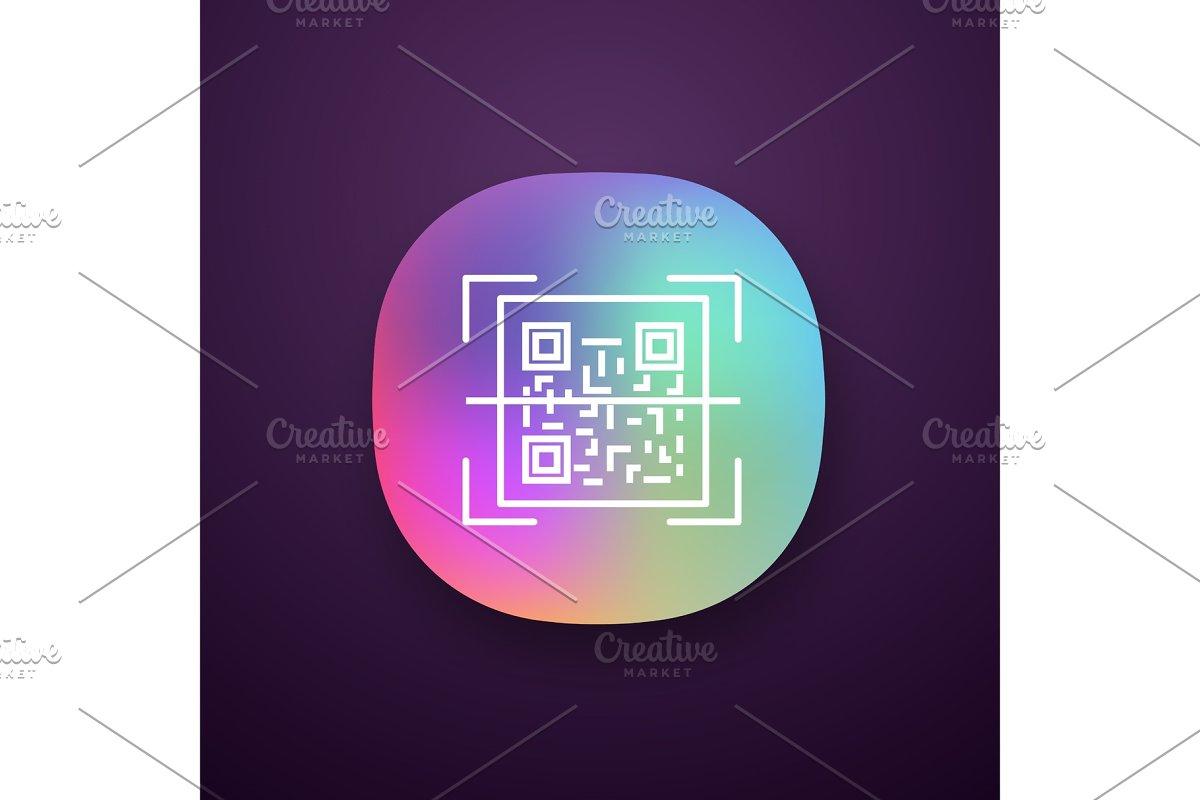 QR code scanning app icon