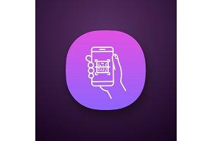 QR code scanner smartphone app icon